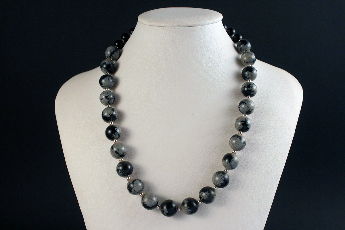 Mineral Expo Necklace Obsidijan Jewelry For Sale